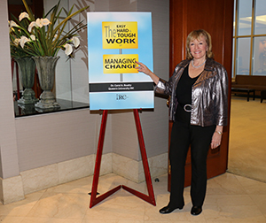 Dr. Carol A. Beatty at the launch of her Change Management e-book