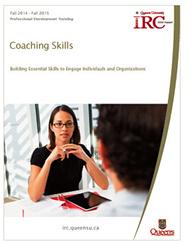 Queen's IRC Coaching Skill training program brochure cover